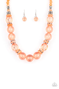 Paparazzi Accessories Bubbly Beauty - Orange Necklaces