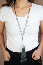 Load image into Gallery viewer, Paparazzi Accessories Brush it Off - Silver Necklaces - Lady T Accessories
