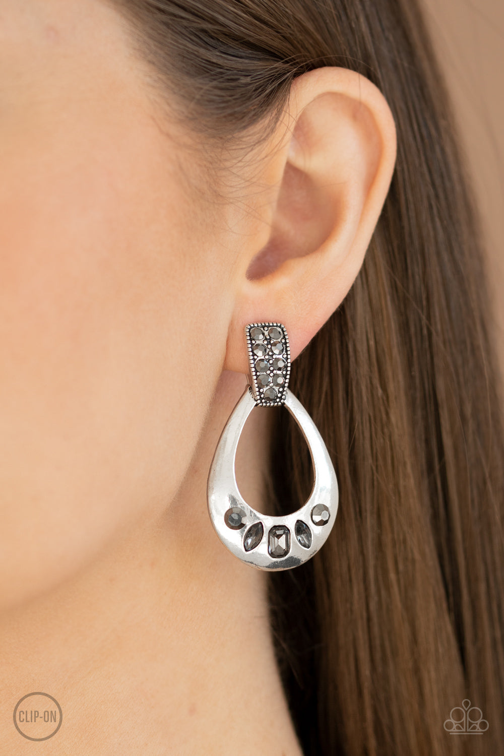 Paparazzi Accessories Broker Babe - Silver Clip-On Earrings