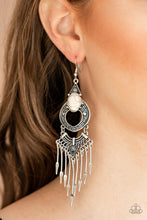 Load image into Gallery viewer, Paparazzi Accessories Southern Spearhead - White Earrings - Lady T Accessories