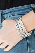 Load image into Gallery viewer, Paparazzi Accessories Tectonic Texture - Silver Bracelets