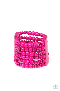 Paparazzi Accessories Dont Stop BELIZE-ing - Pink Bracelets