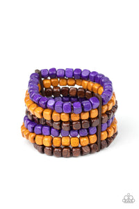 Paparazzi Accessories Tropical Tundra - Purple Wooden Bracelets - Lady T Accessories