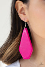 Load image into Gallery viewer, Paparazzi Accessories Vacation Ready - Pink Wood Earrings - Lady T Accessories