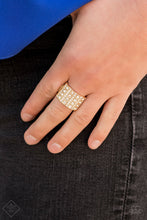 Load image into Gallery viewer, Paparazzi Accessories Diamond Drama - Gold Rings - Lady T Accessories