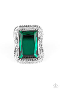 Paparazzi Accessories Deluxe Decadence - Green Rings - Lady T Accessories