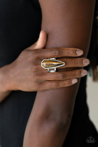 Paparazzi Accessories Spiritual Awakening - Brown Rings - Lady T Accessories