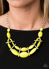 Load image into Gallery viewer, Paparazzi Accessories Law of the Jungle - Yellow Necklaces