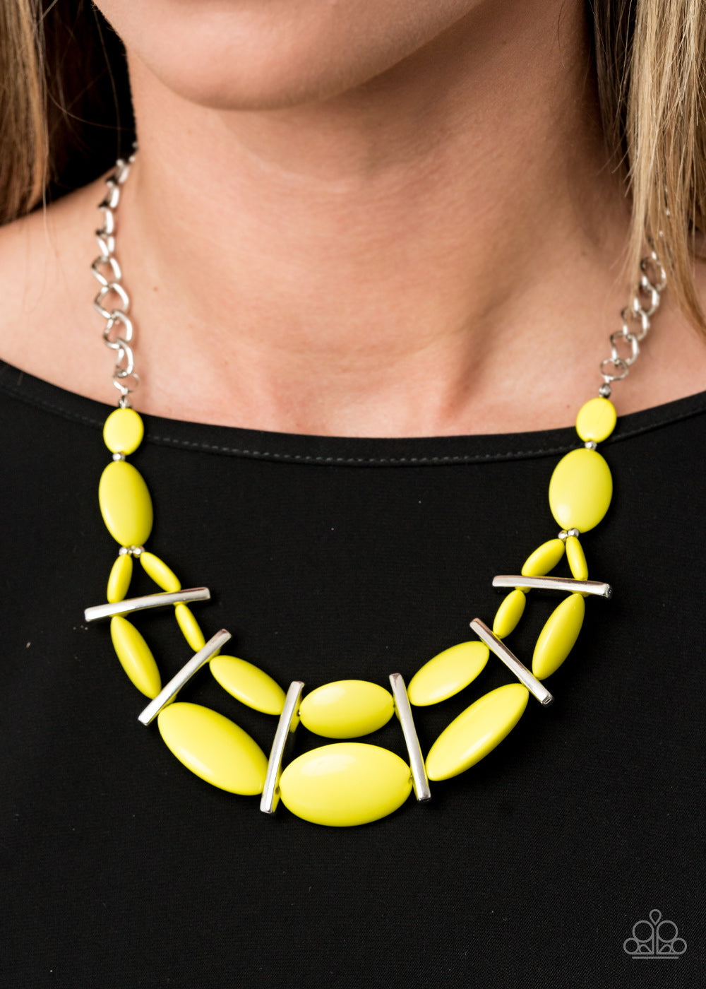 Paparazzi Accessories Law of the Jungle - Yellow Necklaces - Lady T Accessories