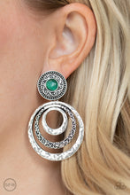 Load image into Gallery viewer, Paparazzi Accessories Bare Your Soul - Green Clip-On Earrings