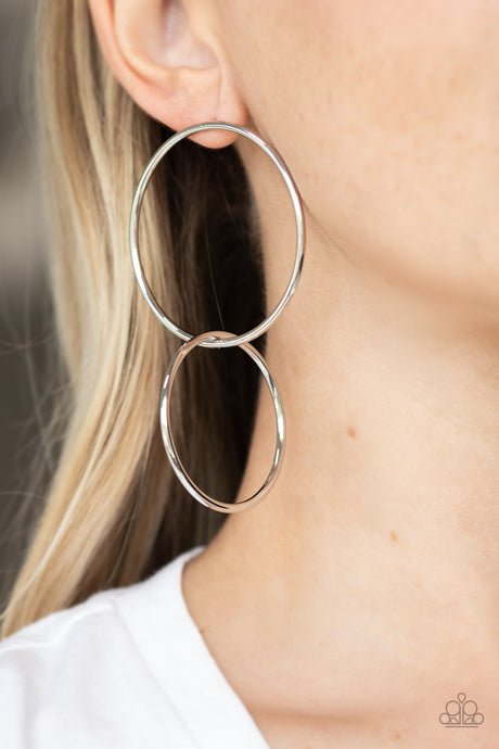 Paparazzi Accessories City Simplicity - Silver Earrings