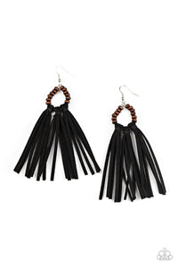 Paparazzi Accessories Easy to PerSUEDE - Black Earrings