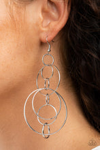 Load image into Gallery viewer, Paparazzi Accessories Running Circles Around You - Silver Earrings - Lady T Accessories