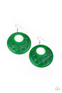 Paparazzi Accessories Tropical Canopy - Green Earrings
