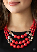 Load image into Gallery viewer, Paparazzi Accessories Flamingo Flamboyance - Red Necklaces - Lady T Accessories