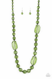 Paparazzi Accessories Malibu Masterpiece - Green Necklaces - Lady T Accessories