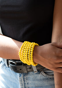 Paparazzi Accessories Diving in Maldives - Yellow Bracelets