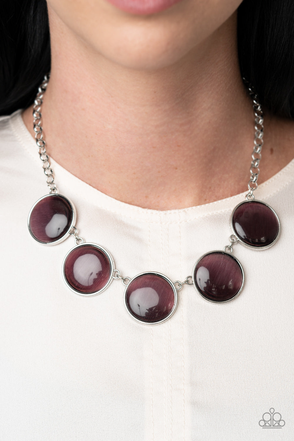 Paparazzi Accessories Ethereal Escape - Purple Necklaces - Lady T Accessories