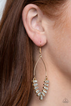 Load image into Gallery viewer, Paparazzi Accessories Me, Myself and Ice - Gold Earrings  - Lady T Accessories