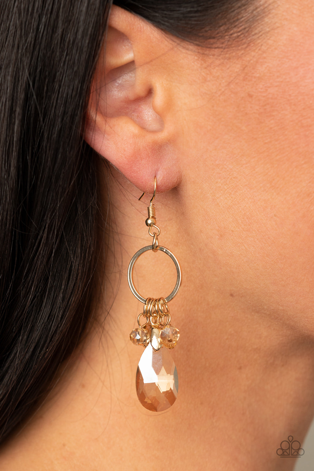 Paparazzi Accessories Unapologetic Glow - Gold Earrings - Lady T Accessories