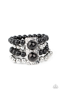 Paparazzi Accessories WEALTH-Conscious - Black Bracelets - Lady T Accessories