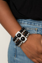 Load image into Gallery viewer, Paparazzi Accessories WEALTH-Conscious - Black Bracelets - Lady T Accessories