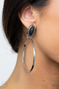 Paparazzi Accessories At Long LASSO - Black Clip-on Earrings - Lady T Accessories