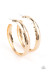 Paparazzi Accessories Check Out These Curves - Gold Earrings