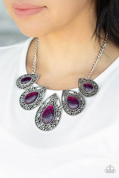 Paparazzi Accessories Opal Auras - Purple Necklaces