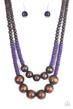 Load image into Gallery viewer, Paparazzi Accessories Cancun Castaway - Purple Wood Necklaces - Lady T Accessories