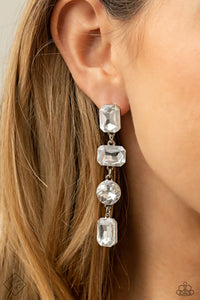 Paparazzi Accessories Cosmic Heiress - White Earrings - Lady T Accessories
