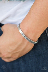 Paparazzi Accessories Brave and Bold - Silver Bracelets - Lady T Accessories
