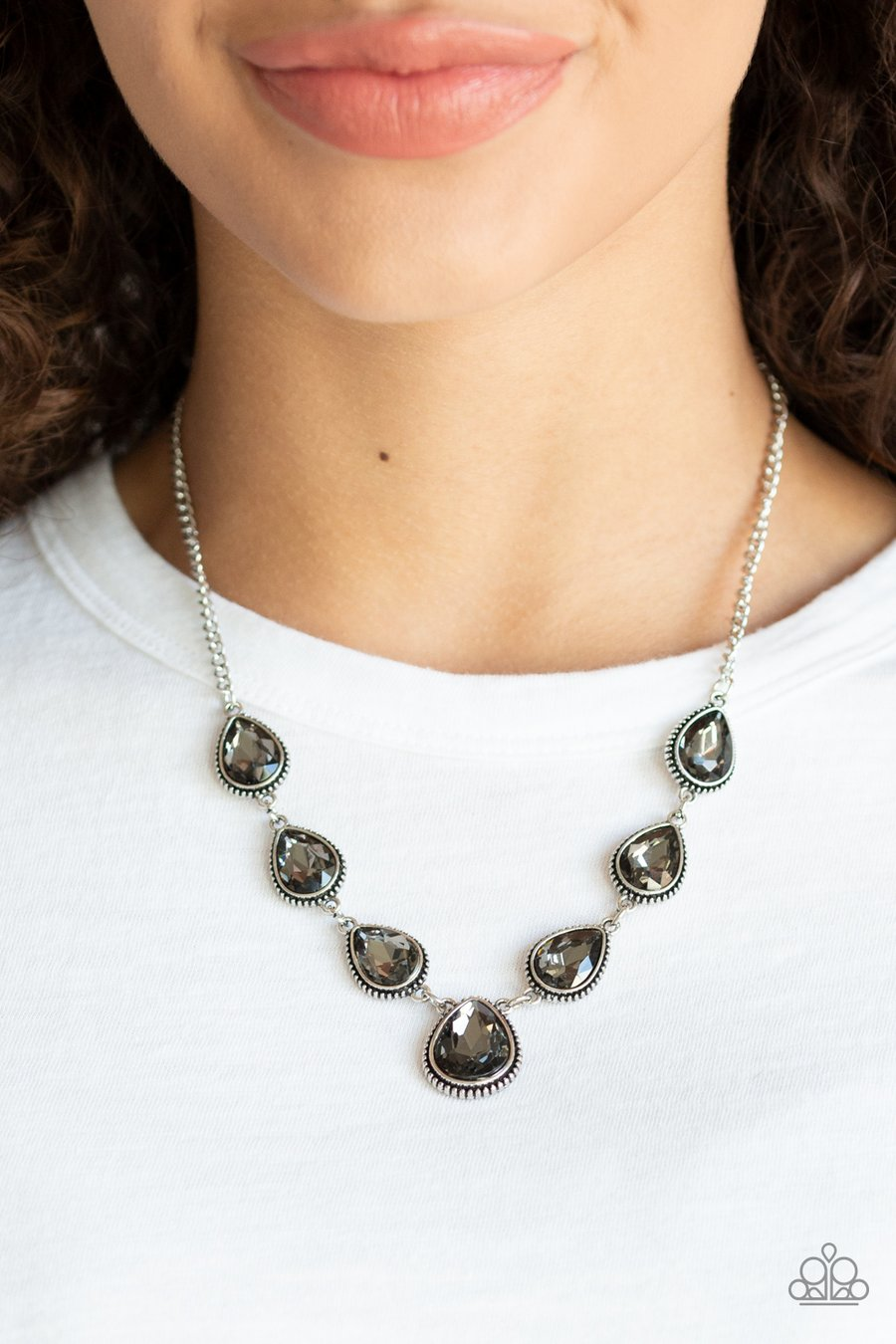 Paparazzi Accessories Socialite Social - Silver Necklaces - Lady T Accessories
