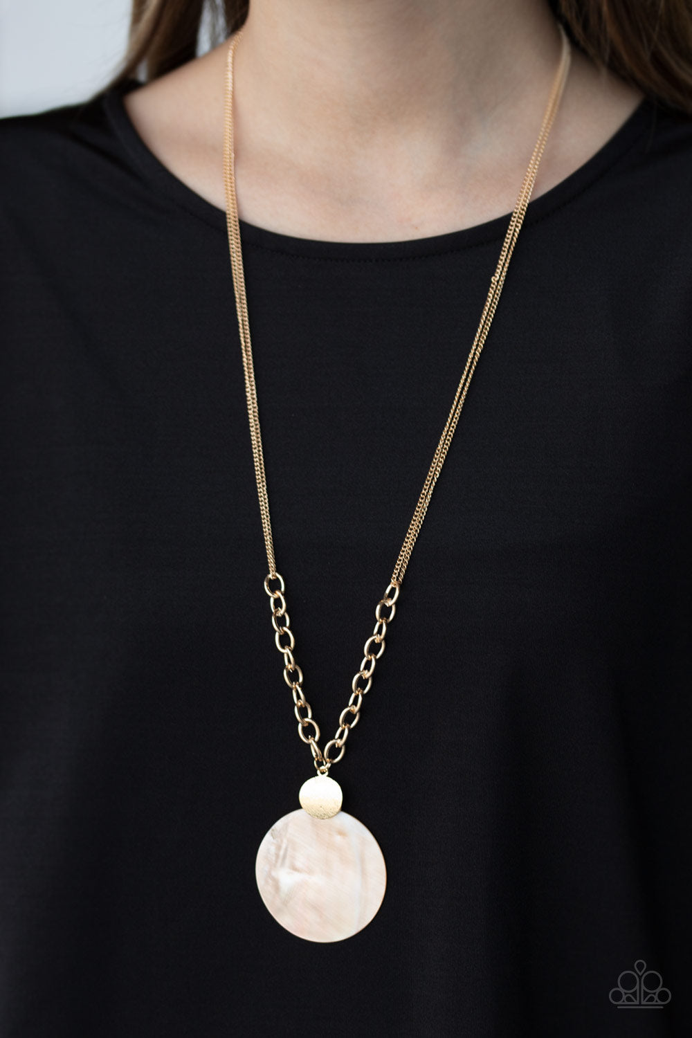 Paparazzi Accessories A Top-SHELLer - Gold Necklaces