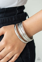 Load image into Gallery viewer, Paparazzi Accessories Basic Bauble - Silver Bangle Bracelets