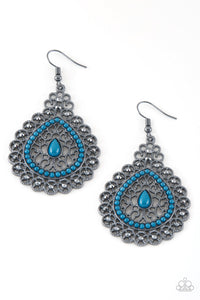 Paparazzi Accessories Carnival Courtesan - Blue Earrings - Lady T Accessories