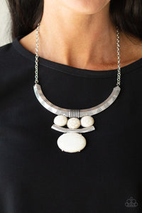 Paparazzi Accessories Commander in CHIEFETTE - White Necklaces - Lady T Accessories