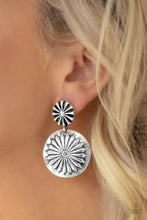 Load image into Gallery viewer, Paparazzi Accessories Fierce Forals - Silver Earrings - Lady T Accessories