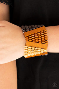 Paparazzi Accessories Haute In Hispaniola - Brown Bracelets - Lady T Accessories