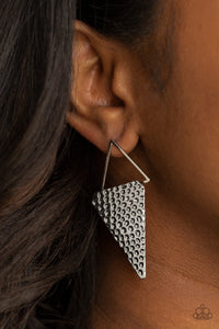 Paparazzi Accessories Have a Bite - Silver Earrings - Lady T Accessories