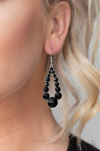 Paparazzi Accessories Here GLOWS Nothing - Black Earrings