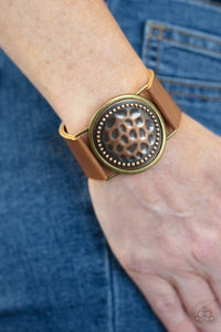 Paparazzi Accessories Hold On to Your Buckle - Copper Bracelets - Lady T Accessories