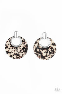 Paparazzi Accessories Metro Zoo - White Earrings - Lady T Accessories