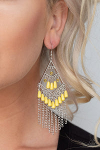 Paparazzi Accessories Trending Trandescence - Yellow Earrings