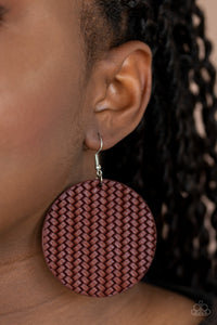 Paparazzi Accessories Weave Your Mark - Red Earrings - Lady T Accessories
