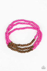 Paparazzi Accessories Woodland Wanderer - Pink Bracelets - Lady T Accessories