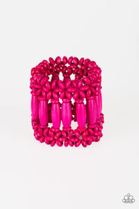 Paparazzi Accessories Barbados Beach Club - Pink Wood Bracelets