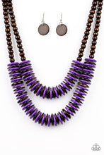 Load image into Gallery viewer, Paparazzi Accessories Dominican Disco - Purple Necklaces - Lady T Accessories