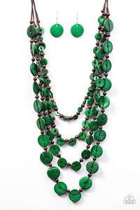 Paparazzi Accessories Fiji Flair - Green Necklaces