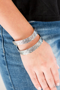Paparazzi Accessories Garden Goddess - Silver Bracelets - Lady T Accessories